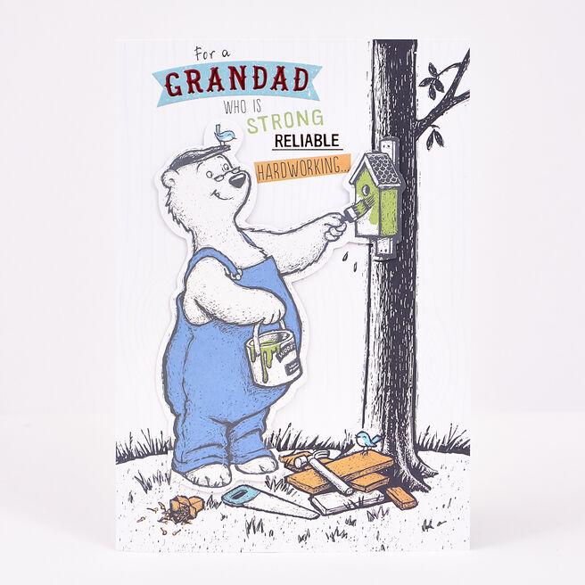 Signature Collection Birthday Card - Grandad Bear