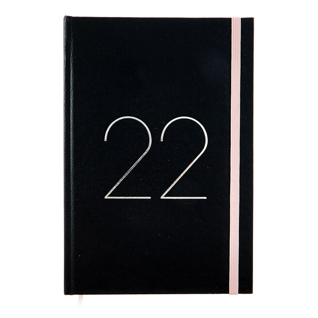 Black A5 Page-A-Day Hardback 2022 Diary