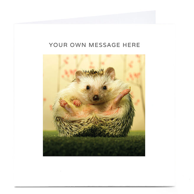 Personalised Card - Hedgehog
