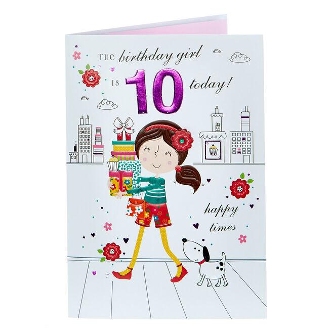 10th Birthday Card - Happy Times