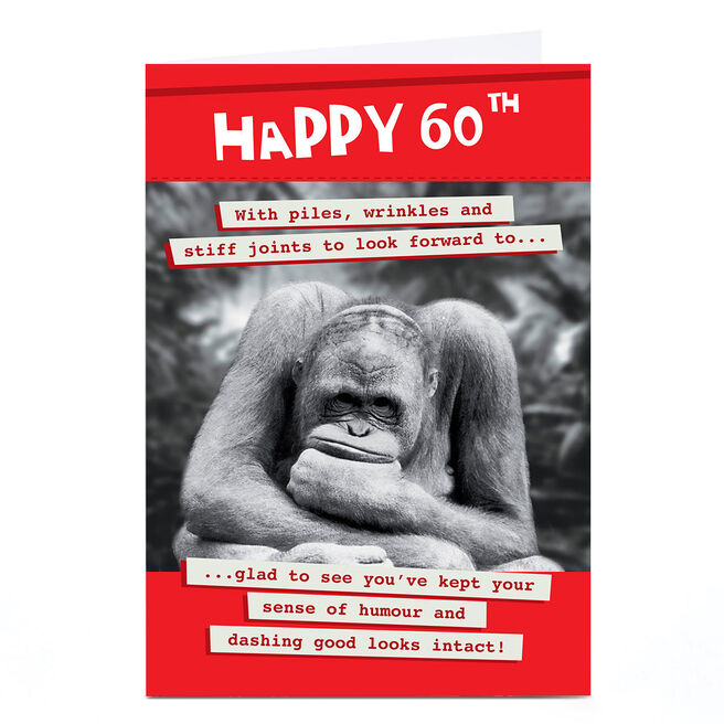 Personalised Quitting Hollywood 60th Birthday Card