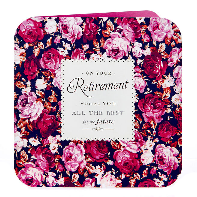 Platinum Collection Retirement Card - All The Best, Floral