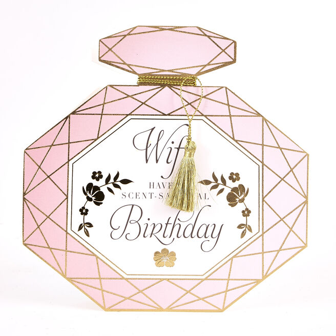 Boutique Collection Birthday Card - Wife Perfume