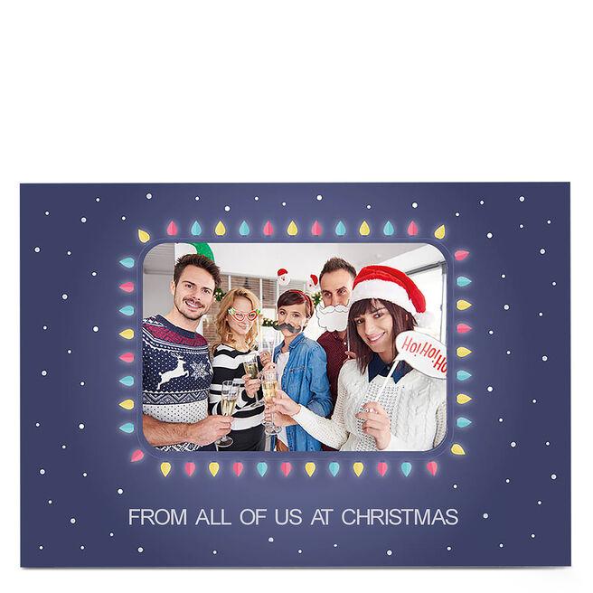 Photo Christmas Card - Fairy Lights Photo