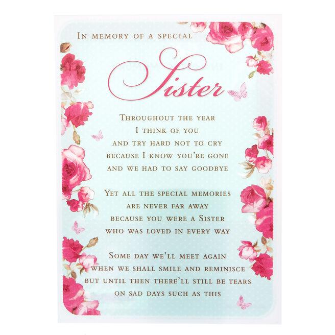Love & Friendship Postcard - Sister, In Memory | Card Factory