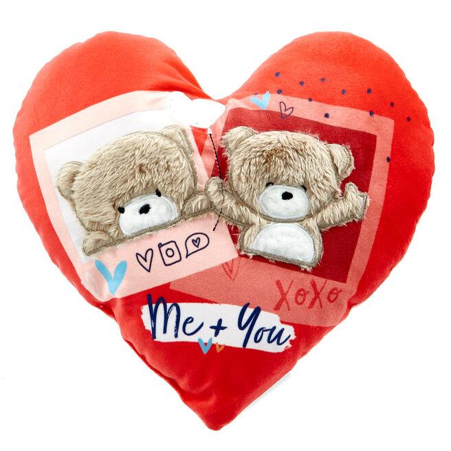 Hugs Bear Me & You Heart Cushion