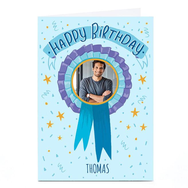 Photo Carol Richardson Birthday Card - Birthday Badge