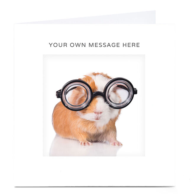Personalised Card - Guinea Pig In Glasses