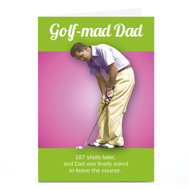Personalised Emotional Rescue Father's Day Card - Golf-Mad Dad