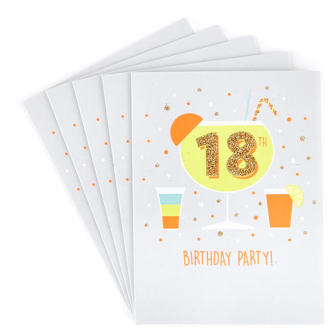 18th Birthday Party Invitations - Pack of 12