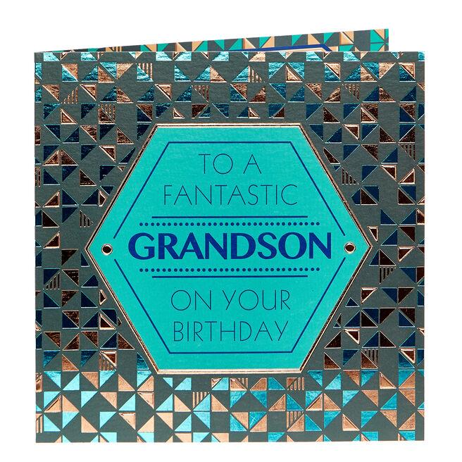Birthday Card - To A Fantastic Grandson
