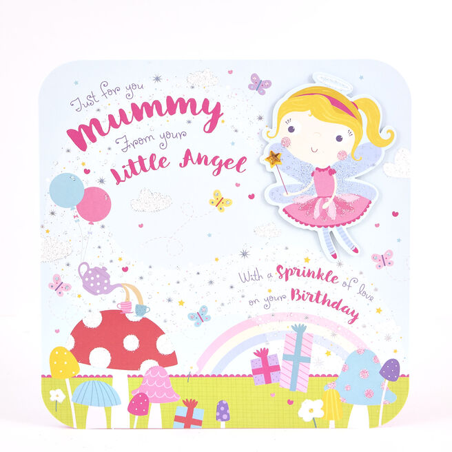 Boutique Collection Birthday Card - Mummy From Little Angel
