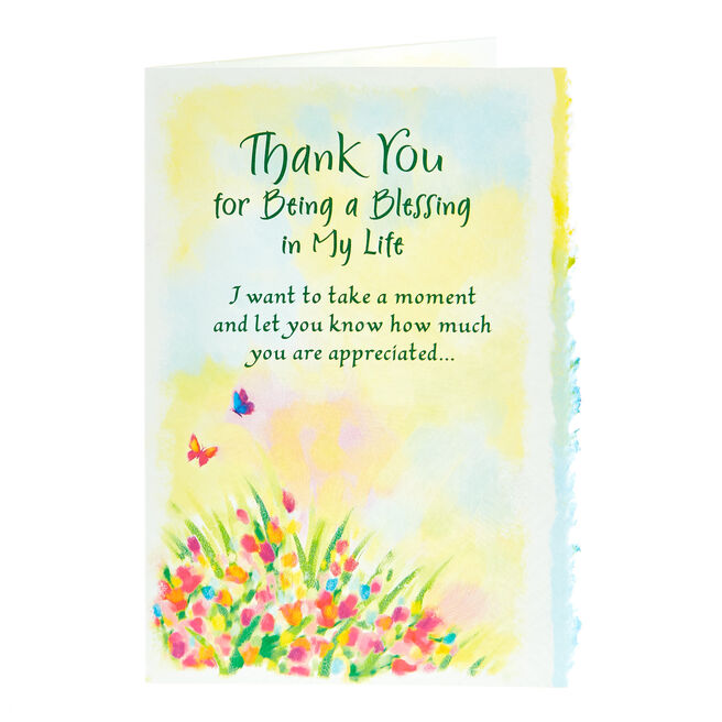 Blue Mountain Arts Card - Thank You For Being A Blessing