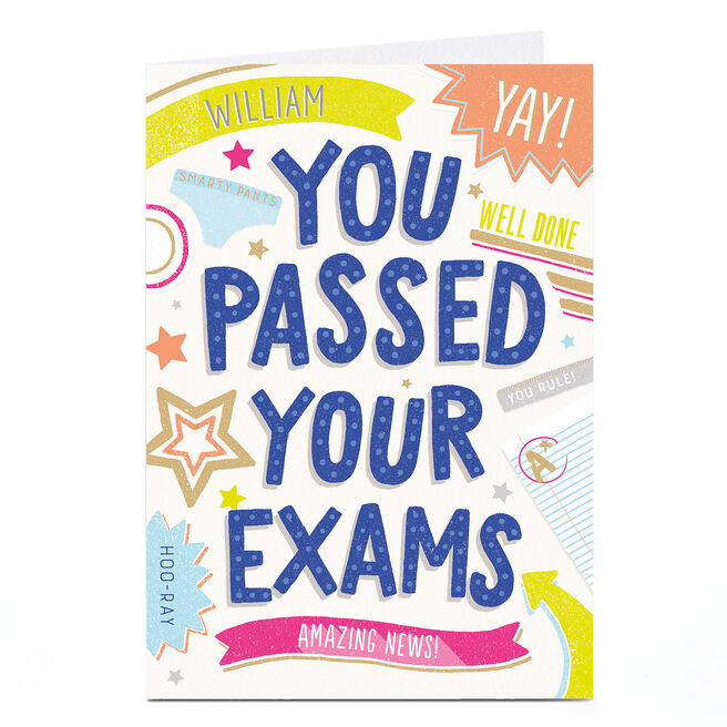 Personalised You Passed Card - Amazing Exam News