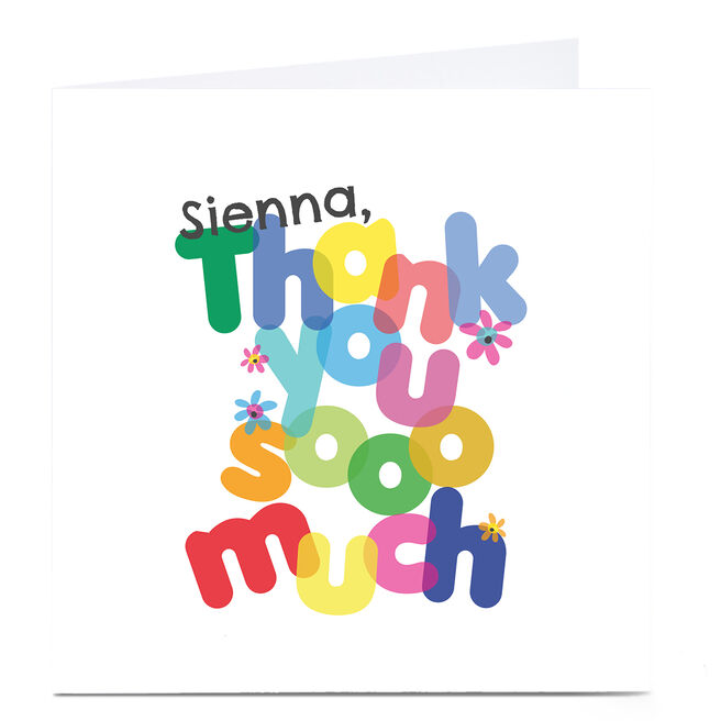 Personalised Rachel Griffin Card - Thank you