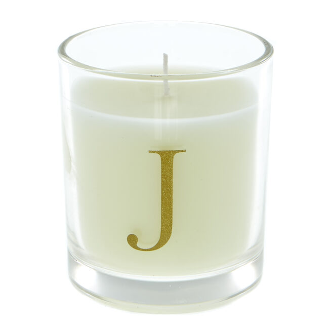 Letter J Warm Cashmere Scented Candle