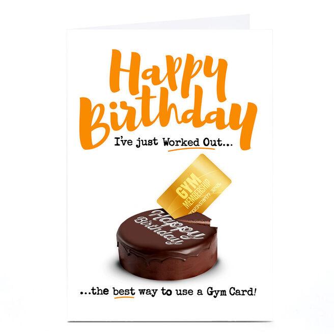Personalised PG Quips Birthday Card - Gym Membership Card