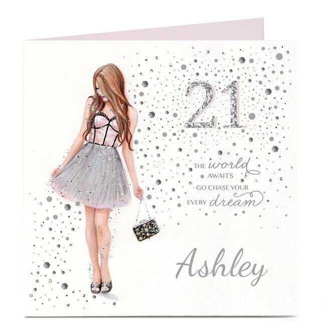 Personalised 21st Birthday Card - Chase Your Every Dream