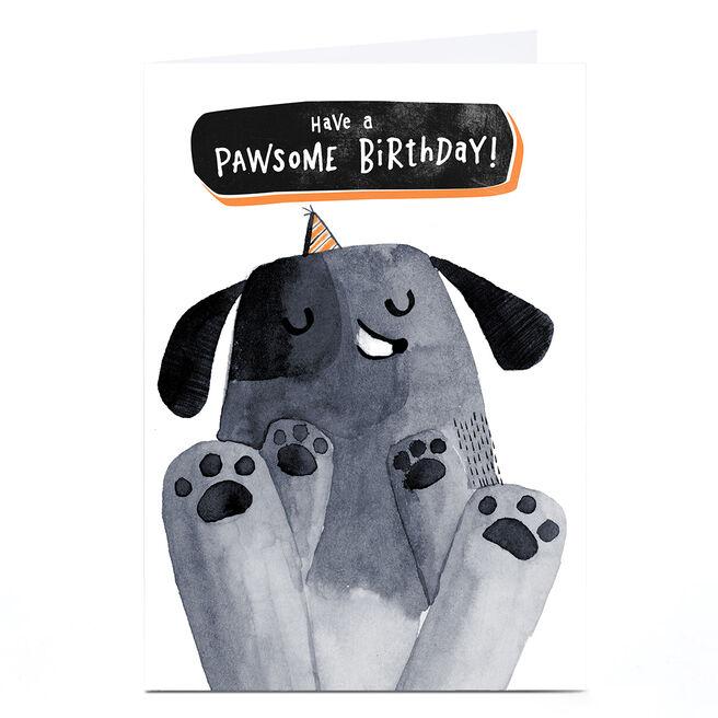 Personalised Andrew Thornton Birthday Card - Pawsome Birthday