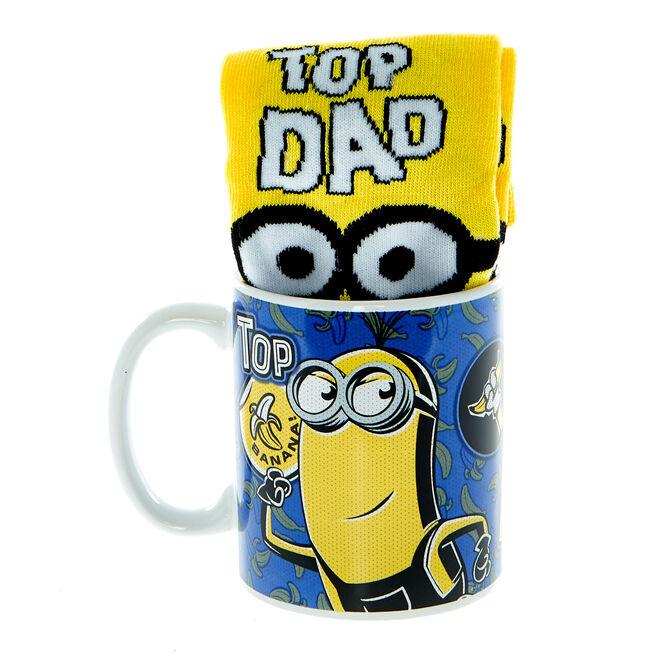 Dad Top Banana Minions Mug & Socks