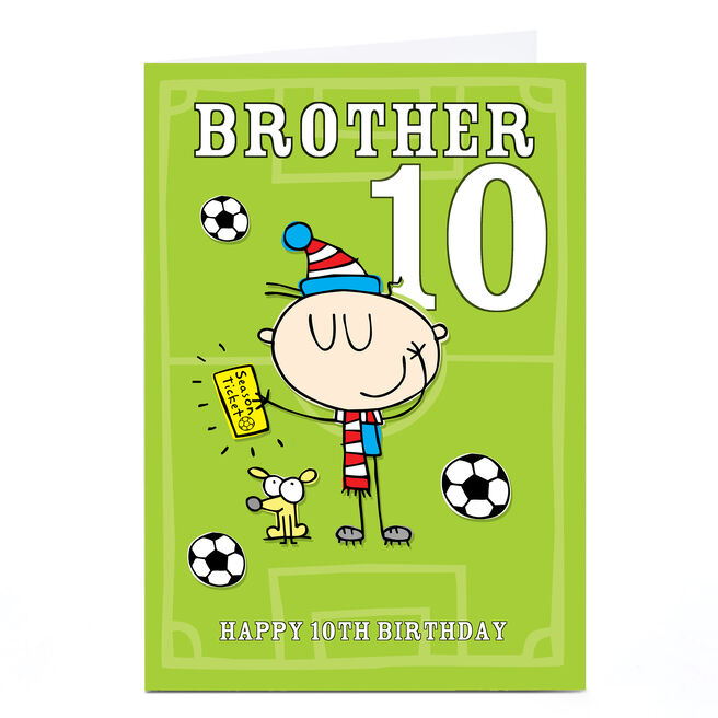 Personalised Any Age Birthday Card -Football Fan