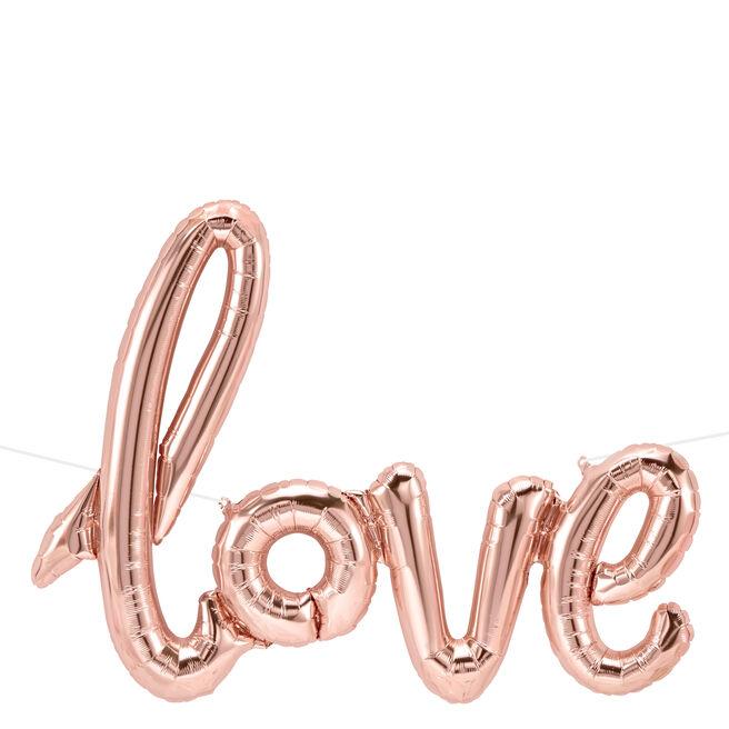 40-Inch Rose Gold Script Balloon - Love