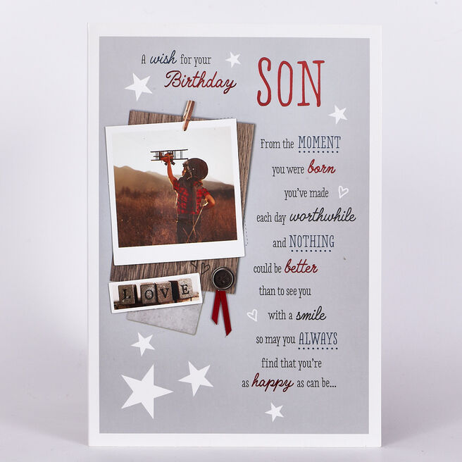 Signature Collection Birthday Card - Son Toy Plane