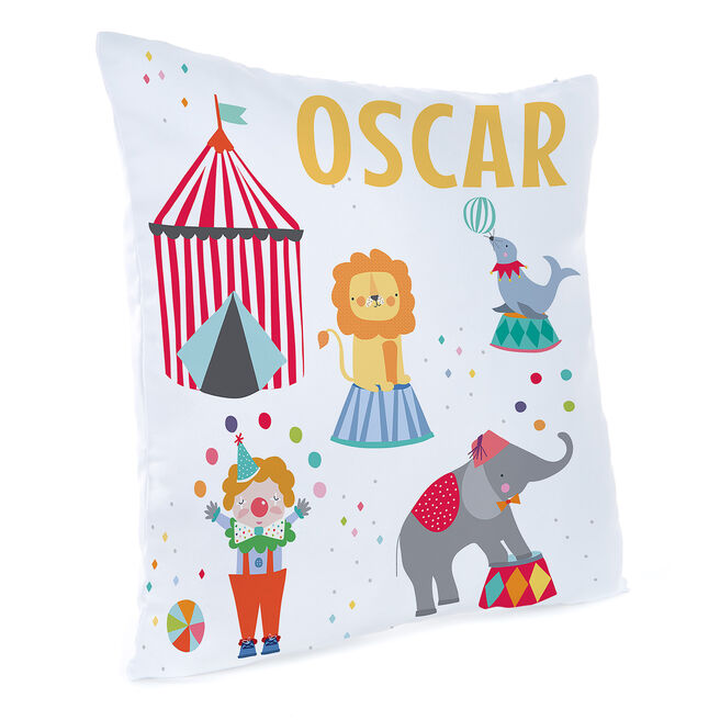 Personalised Circus Cushion
