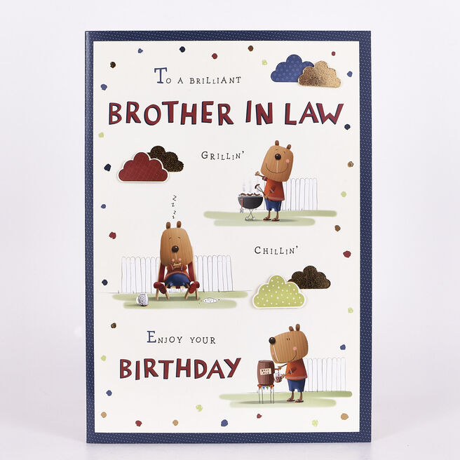 Signature Collection Birthday Card - Brother-In-Law Bear