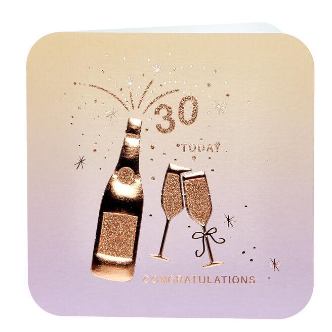 30th Birthday Card - Congratulations