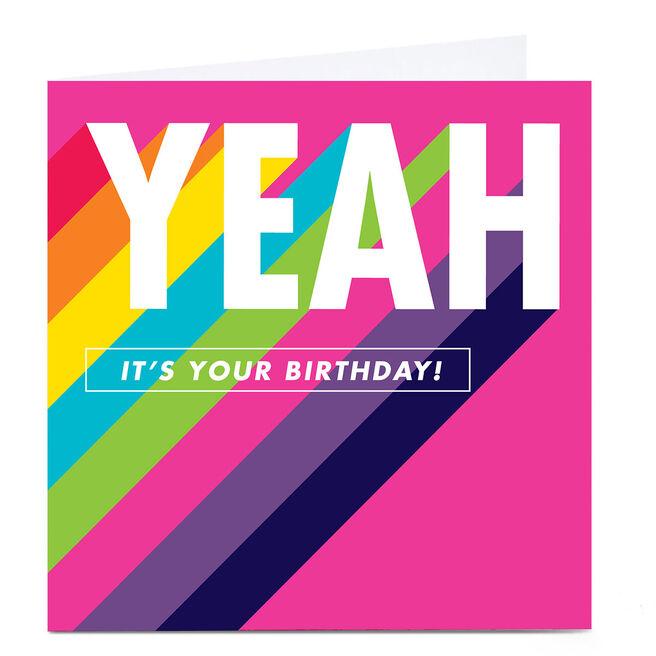 Personalised Hello Munki Birthday Card - Yeah