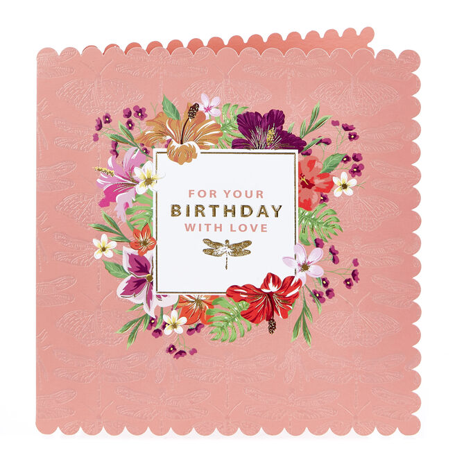 Birthday Card - With Love, Dragonfly