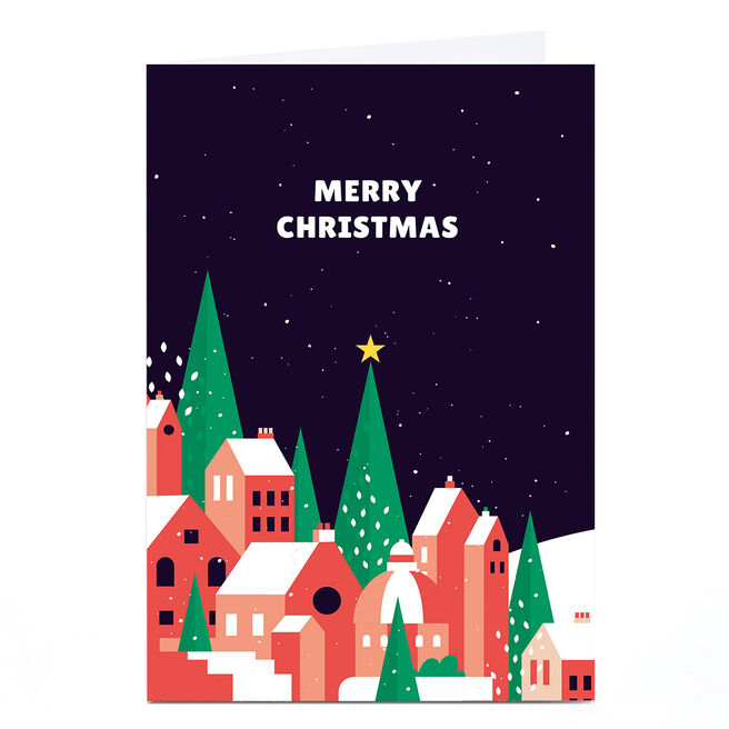 Personalised Neil Clark Christmas Card - Houses