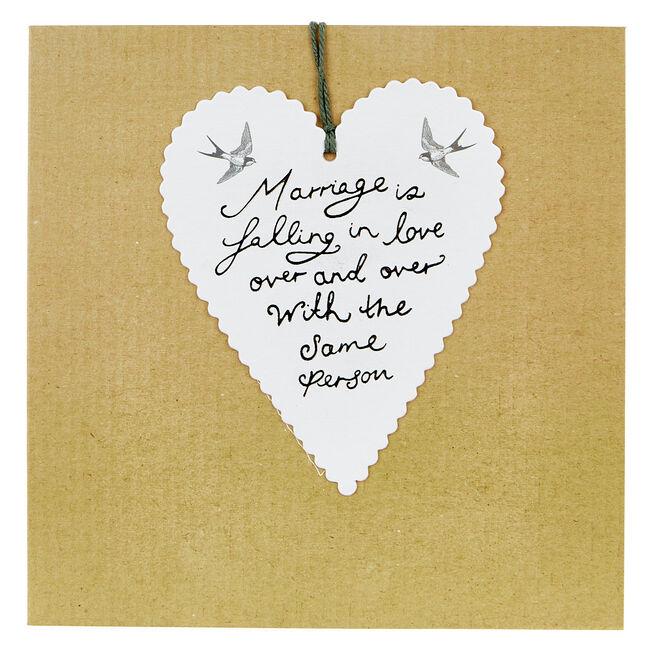 Boutique Collection Wedding Card - Swallows & Heart