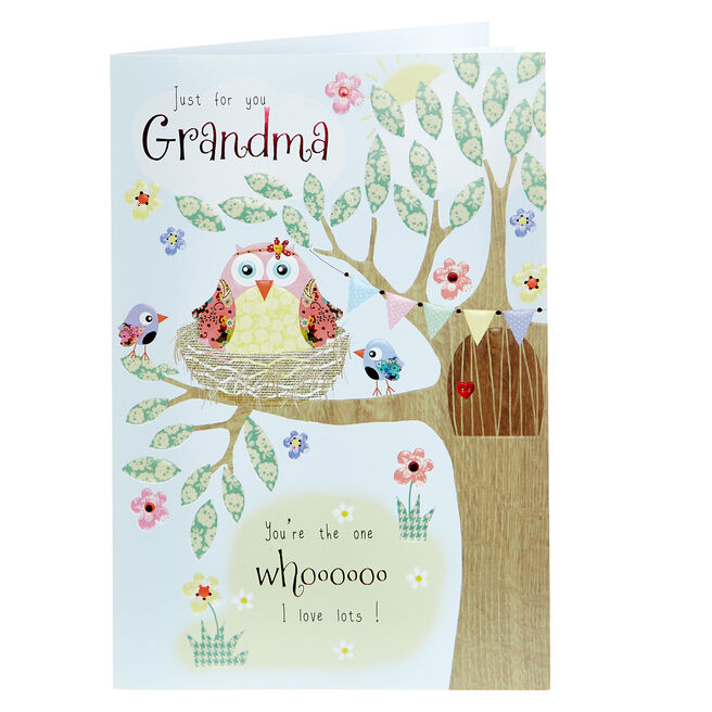 Mother's Day Card - For You Grandma Owls