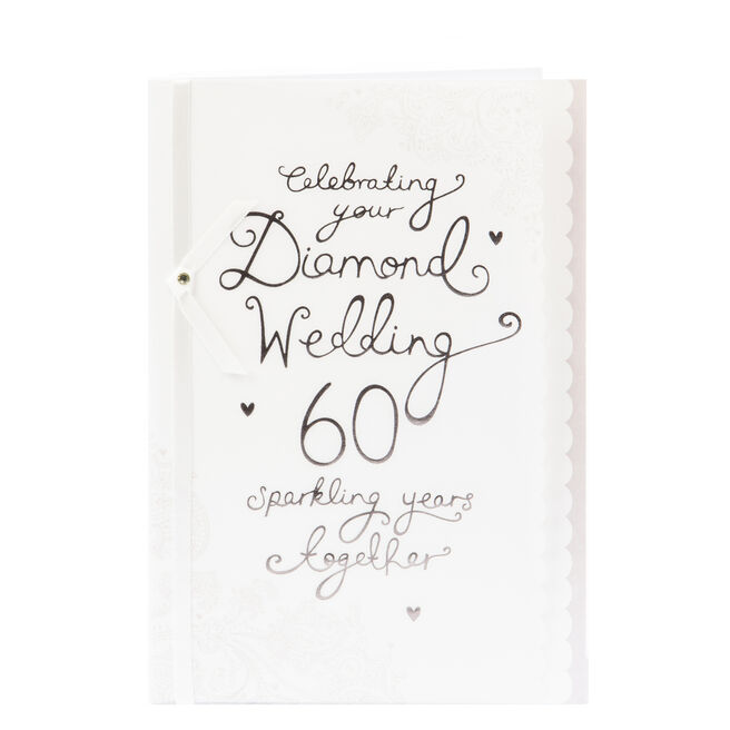 60th Wedding Anniversary Card - Sparkling Years