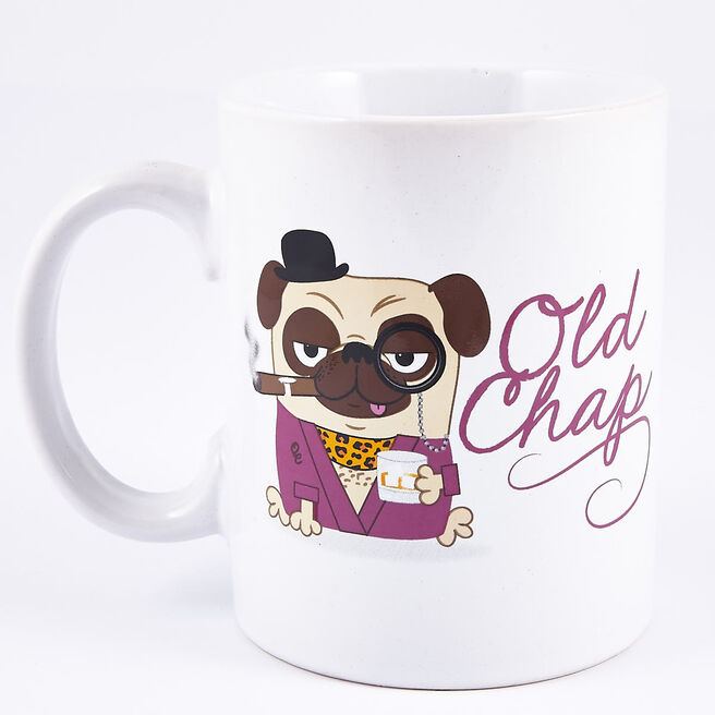 Old Chap' Fancy Pug Large Mug