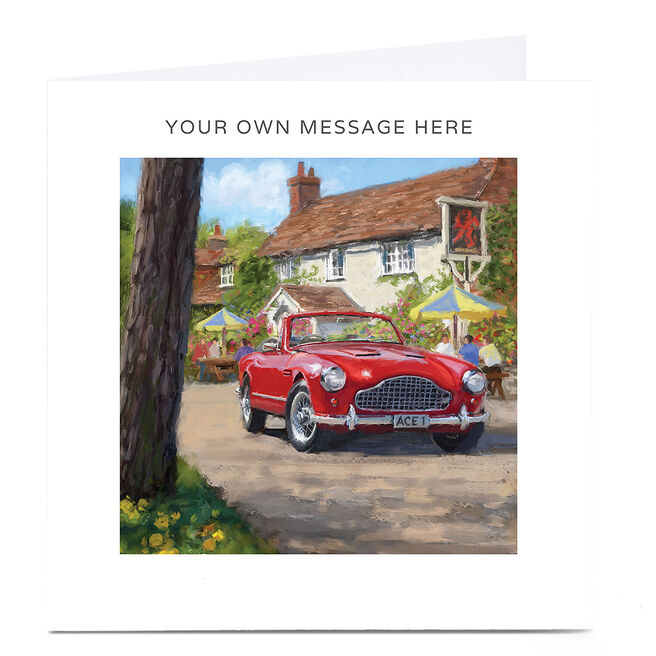 Personalised Card - Vintage Red Car