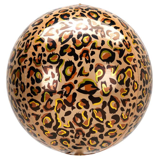 Orb-Shaped Leopard Print 16 Foil Helium Balloon