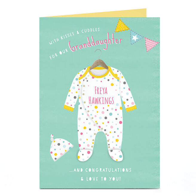 Personalised Card - Baby Kisses & Cuddles