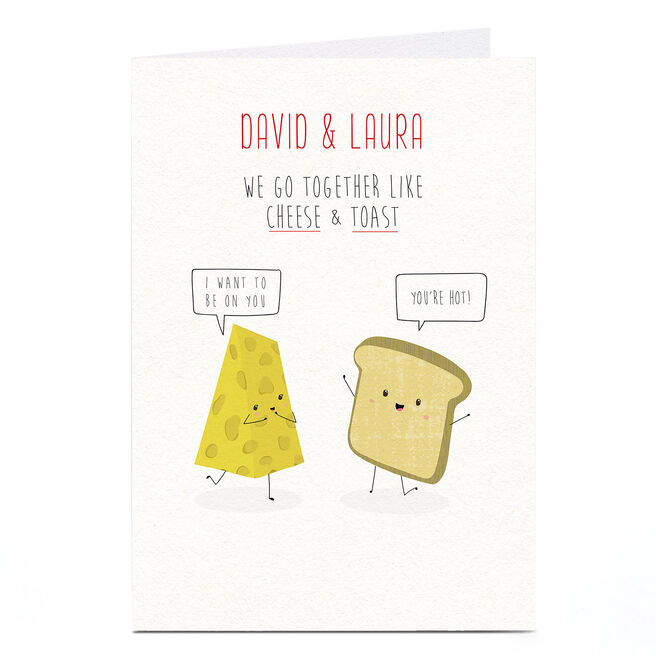 Personalised Card - Cheese On Toast