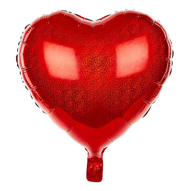 Red Heart Foil Helium Balloon