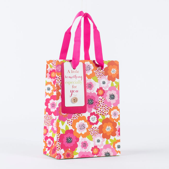 Floral A Little Something Small Gift Bag