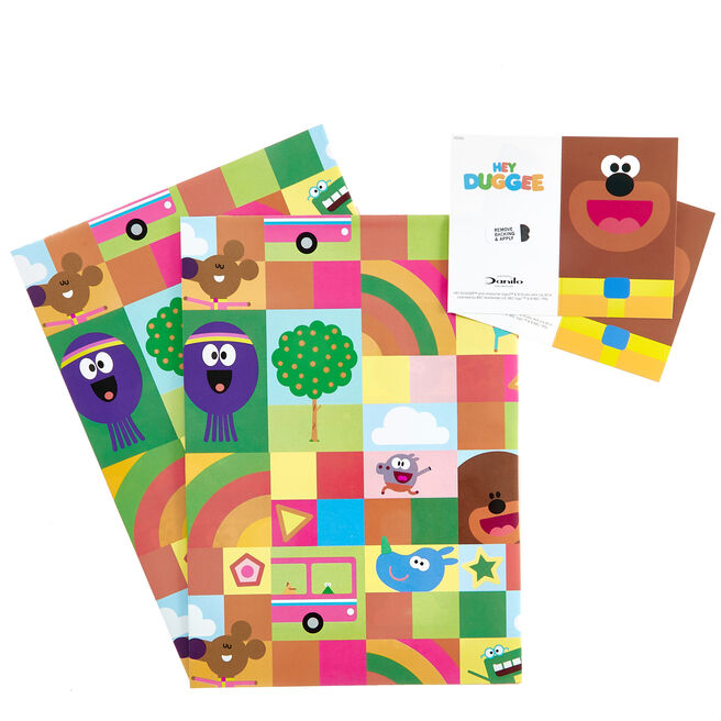 Hey Duggee Wrapping Paper & Gift Tags - Pack Of 2