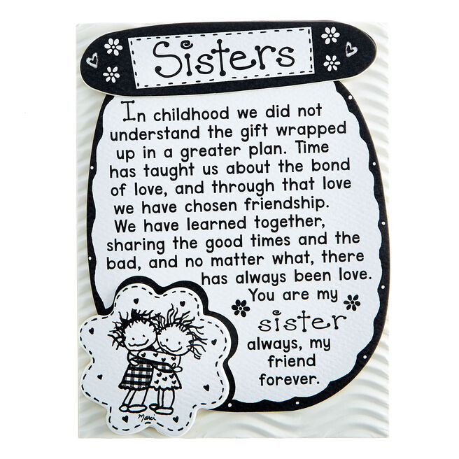 Blue Mountain Arts Magnet With Stand - Sisters