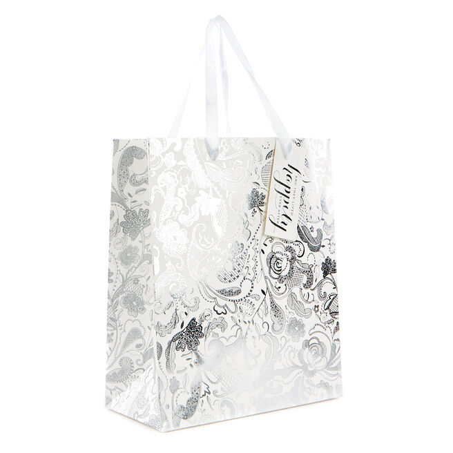 Small Black & White Gift Bag - Happily Ever After