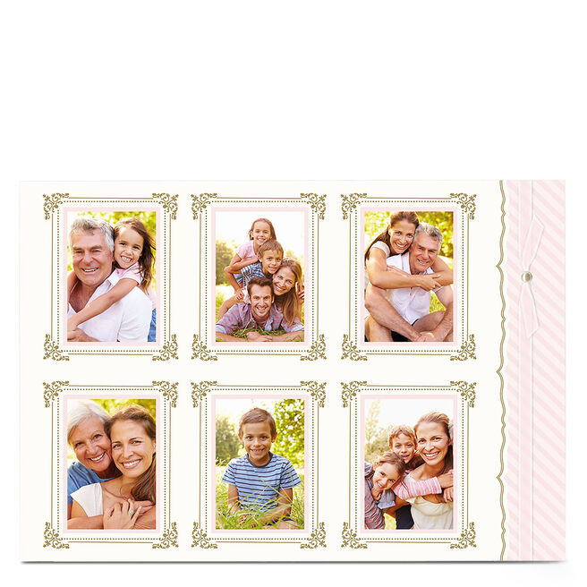 Photo Card - White And Gold Frames
