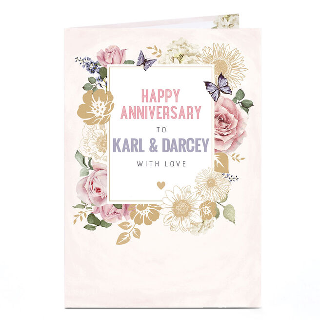 Personalised Anniversary Card - With Love