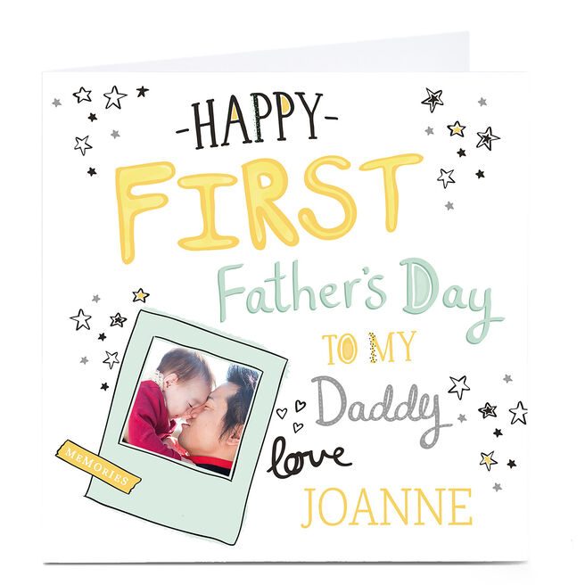 Photo Upload Father's Day Card - First Father's Day