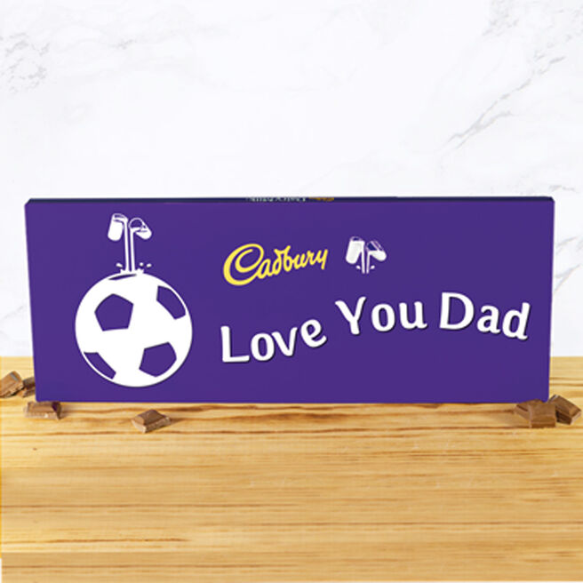 Personalised 850g Cadbury Dairy Milk Bar - Football